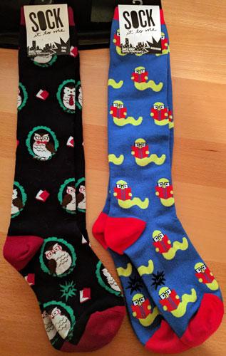 Long socks - owl and bookworm